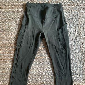 Army Green Lululemon leggings